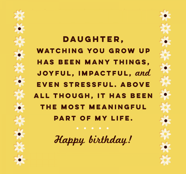 Happy Birthday Greeting Cards To Daughters