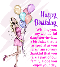 Birthday Wishes For Daughter In Law Images Messages