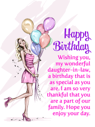 Birthday Wishes For Daughter In Law With Love