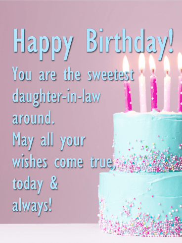 Birthday Wishes For Daughter in Law with love - Daughter in